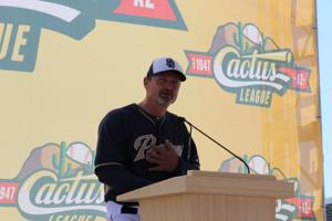 <p>Retired San Diego Padres reliever Trevor Hoffman praised the Cactus League for the way it treats teams during spring training. He spent all of his spring training experiences at Peoria Sports Complex.</p>