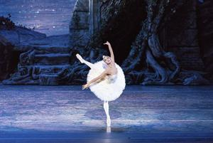"""<p>In this Sept. 3, 2014 photo, Misty Copeland performs in """"Swan Lake,"""" at the Queensland Performing Arts Centre in Queensland, Australia. Copeland danced the lead role of Odette/Odile in """"Swan Lake"""" Wednesday, June 24, 2015, for the first time at American Ballet Theatre's home, the Metropolitan Opera House in New York. (Darren Thomas/ABT via AP)</p>"""