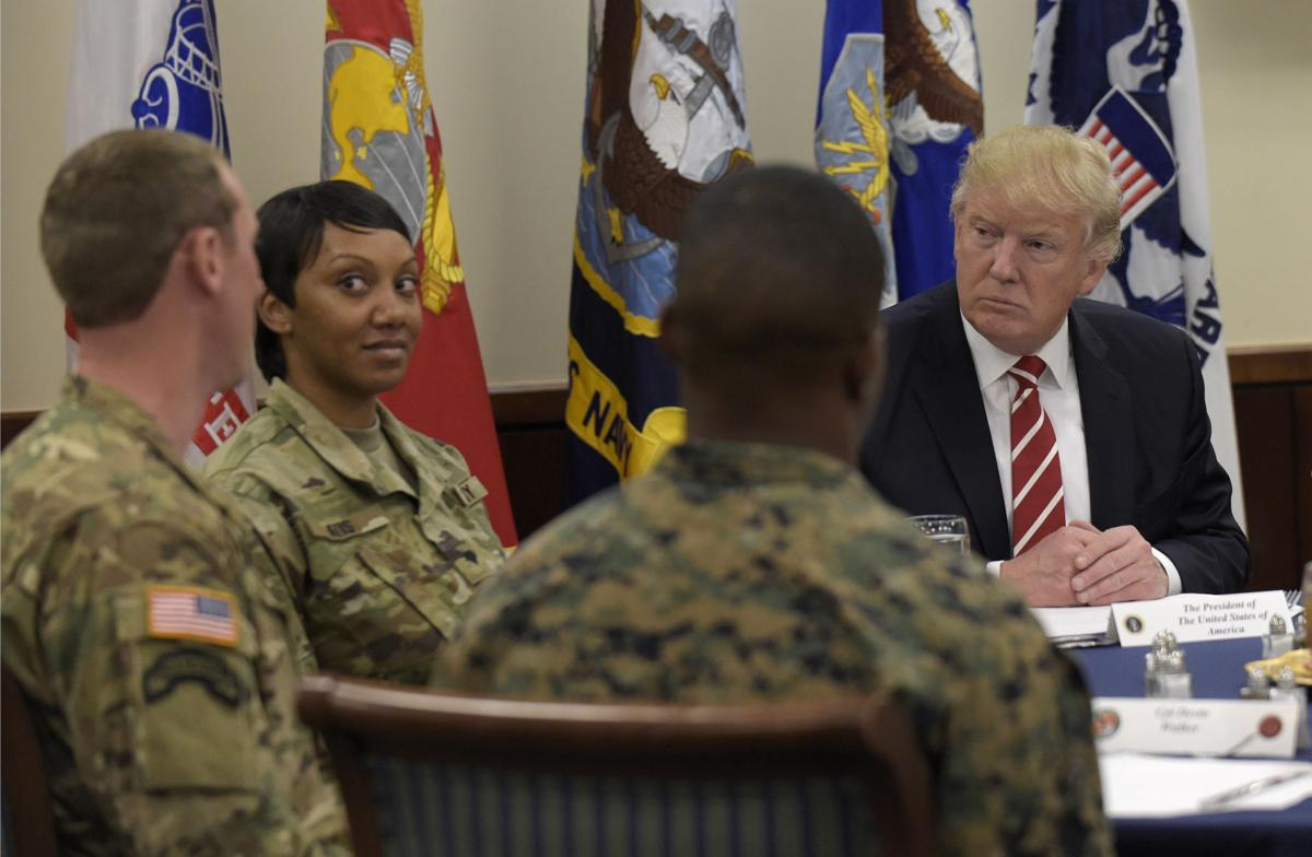 Trump visits troops at special operations command | Ap ...