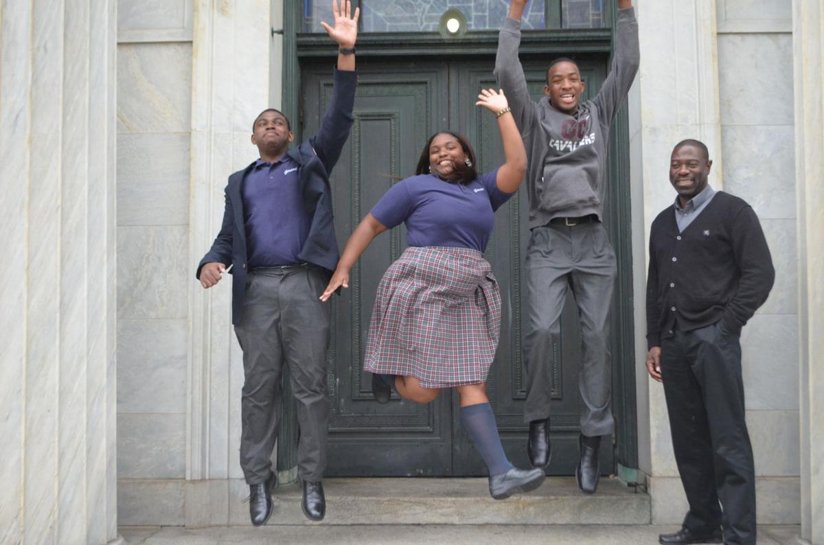 girard students rejoice over college acceptance letters news brandon dixon cheyenne simpkins and jaesohn moncrieffe jump for joy in celebration of their acceptance into some of the nation s top schools college