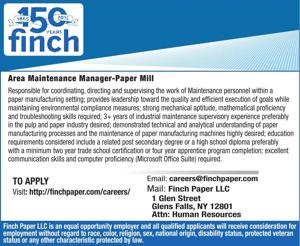 Area Maintenance Manager-Paper Mill