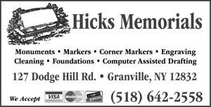 Hicks Memorials