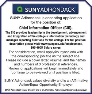 SUNY Adirondack is accepting application