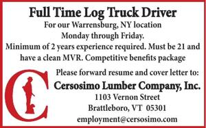 Full Time Log Truck Driver