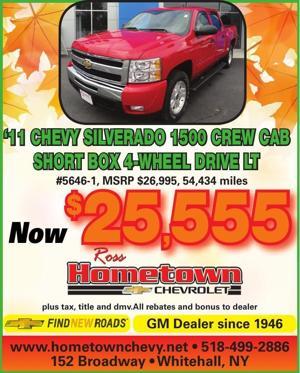 '11 CHEVY SILVERADO 1500 CREW CAB