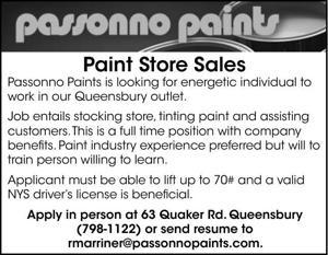 Paint Store Sales