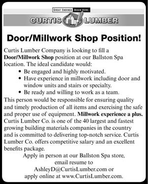 Door/Millwork Shop Position!