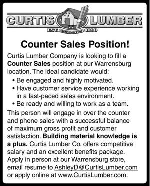 Counter Sales Position!