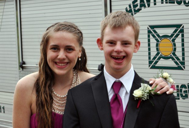 Photo of Hahnah Saroff and Max Jackoski at the Lake George prom, 4/21/12