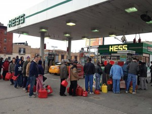 Long lines, rising tempers seen at gas stations