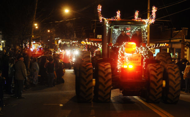 Tractors Pull Crowds Into Downtown Greenwich For Lighted