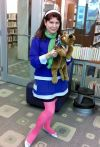 Librarian portrays Daphne