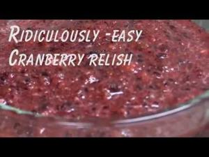 Ridiculously-Easy Cranberry Relish