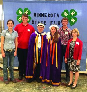 <p>Special</p><p><strong>Minnesota fair:</strong> Nathan Vonderharr and Katie Benson were crowned Minnesota Poultry Prince and Princess at the 2015 State Fair. Members of the court included, left to right, Tiana Lenzmeier, Jacob Tesch, Andrew Gatjje and Mariah Huberty.</p>