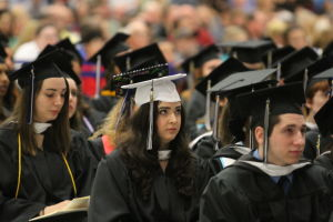 'Embrace sleeping on the floor,' speaker tells Stockton graduates