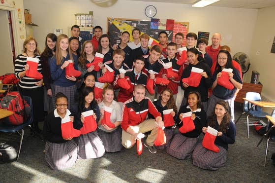 Pilgrim Academy student leads drive to fill Christmas stockings for Covenant House