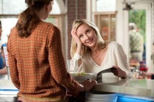 Anne Heche Returns To TV With New Comedy 'Save Me': Anne Heche, right, stars as Beth Harper, a housewife and mother whose life is changed when she suffers a near-death experience and develops the ability to communicate with God.