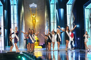 Miss America 2 PRELIMS: Miss America contestants hit the stage to open the second preliminary Competition Show of the Miss America pageant in Atlantic City, New Jersey, Sept. 11, 2013. - Photo by Edward Lea