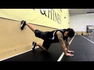 Your workout: Wall plank
