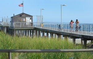 Open Space: People use the pier. Monday July 29 2013 Ventnor Pier related to open space measure that was up for a vote in the senate on Monday. (The Press of Atlantic City / Ben Fogletto) - Ben Fogletto