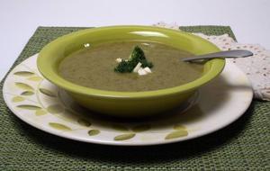 Hold the cream when preparing this healthy, creamy Broccoli Soup