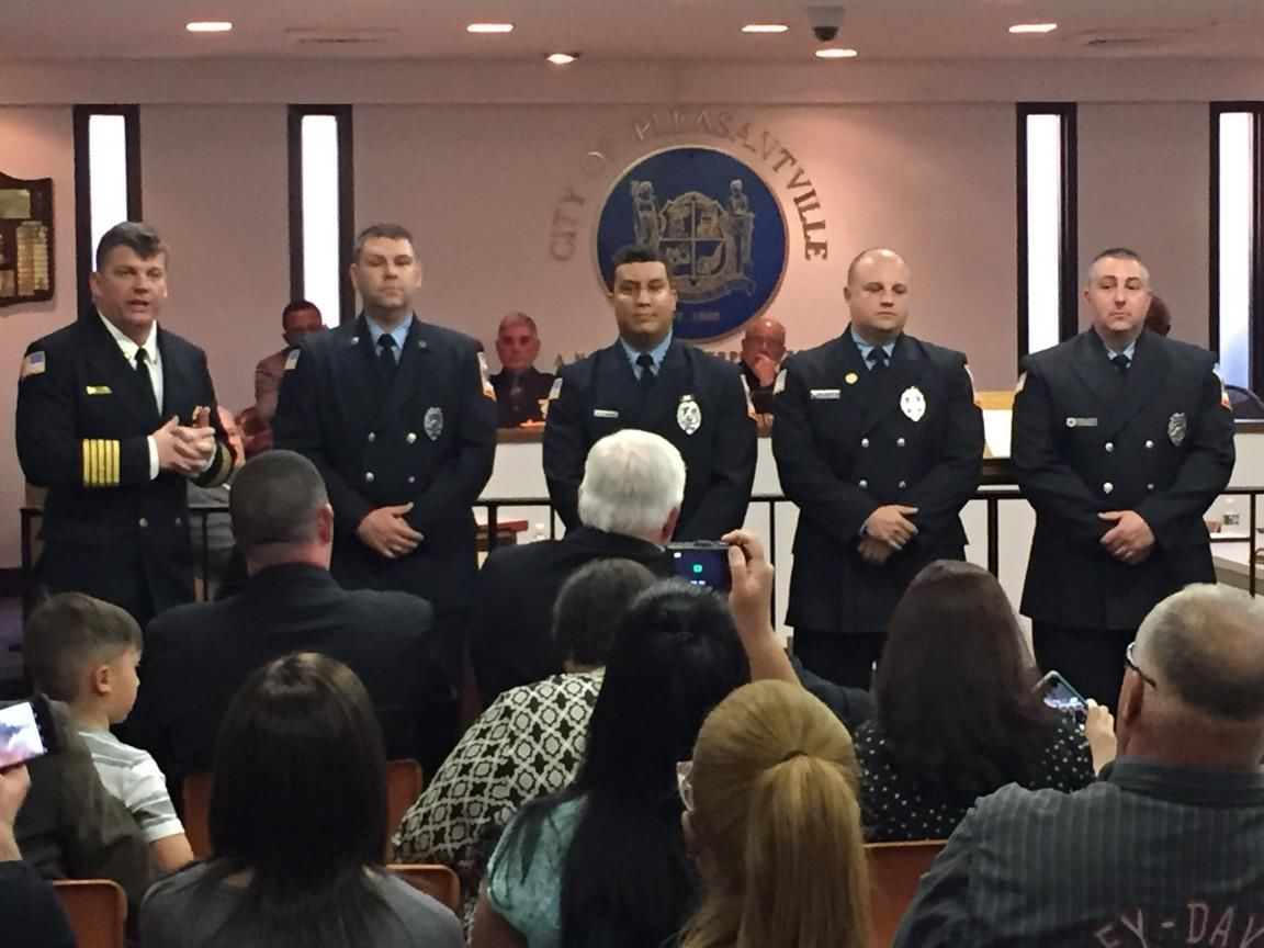 Pleasantville firefighters honored