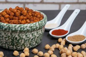 Chickpeas both tasty snack and good source of fiber, protein