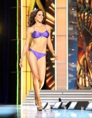 Miss America 2 PRELIMS: Miss Puerto Rico Shenti Lauren contestant walks the runway during swimsuit portion of the preliminary second round of the Miss America pageant at Boardwalk Hall in Atlantic City, New Jersey, September 11 2013 - Photo by Edward Lea