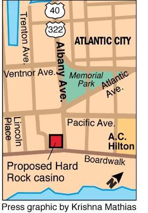 Hard Rock casino map