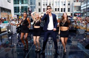 Blurring  The Lines On  Indecency: In July, Robin Thicke performed on NBC's 'Today' show in New York. The video for his song 'Blurred Lines,' where topless models playfully dance around him, has stirred a debate, with detractors complaining it's too racy and degrading to women. Thicke insists he meant no offense — and the song, meanwhile, has become the No. 1 hit of the summer.