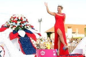 MISS AMERICA PARADE: Miss America Mallory Hagan. - Photo by Edward Lea
