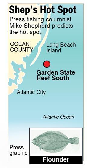 Shep Hot Spot flounder Gardent State Reef South