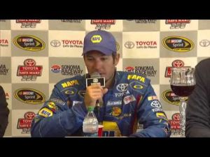 Stafford Township's Martin Truex Jr. talks about winning