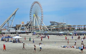 Wildwoods Beach Frisbee: Wildwood Mayor Ernie Troiano Jr. said taxpayers should not shoulder the burden of costs related to events -- like last summer's beach frisbee tournament -- that draw thousands of people to the city's beaches each year. - Ben Fogletto