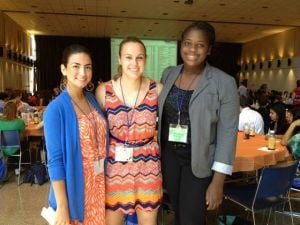 My Life: EHT Senior Lola Agabalogun: Lola attends a leadership conference at Monmouth University with two friends from North Jersey — Madison Piassek, left, and Alexis Cargill.