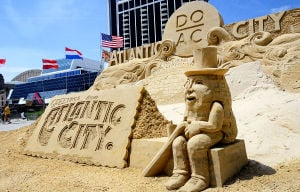 SAND SCULPTING: The World Championship of Sand Sculpting was held on the beach next to the Pier at Caesars in Atlantic City.  - Photo by Ben Fogletto