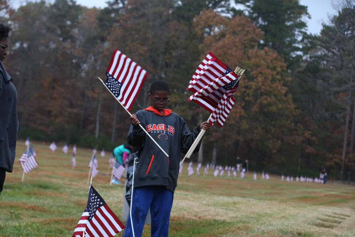 Gallery atlantic county american flag placement ceremony for Proper placement of american flag