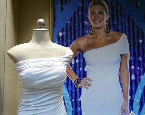 MISS AMERICA EXHIBIT: The gown worn by Miss America 2013 Mallory Hytes Hagan is displayed, Thursday May 9, 2013, in the lobby of the Atlantic City Sheraton Hotel. (The Press of Atlantic City/Staff Photo by Michael Ein)  - Michael Ein