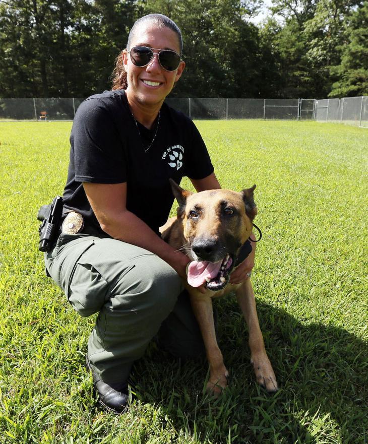 k9 police dogs women