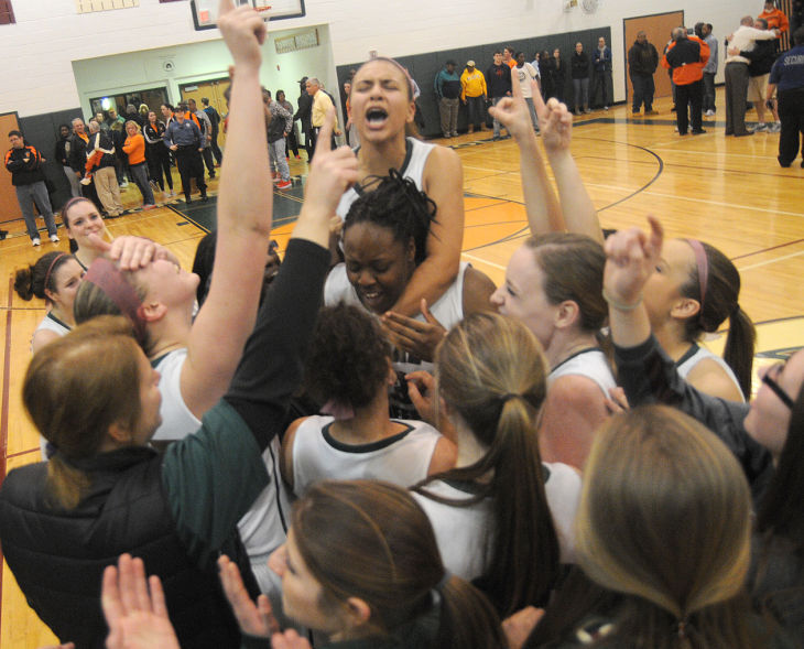 Cedar Creek girls celebrate