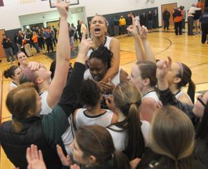Cedar Creek girls celebrate