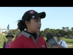 Moriya Jutanugarn's Second Round Interview at the 2013 ShopRite LPGA Classic Presented by Acer