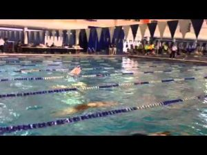 Colleen Calahan wins 100 breaststroke at MOC, March 3, 2013