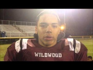 Wildwood's Jose Valentin after beating Pitman