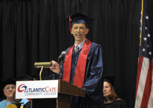 ACCC Graduation: 4.0 High Honor Student Kenneth A. Kin, from Galloway, addresses the audience during the Atlantic Cape Community Collage 47th Annual Commencement held at the college in Mays Landing Thursday, May 22, 2014. Photo/Dave Griffin - Dave Griffin