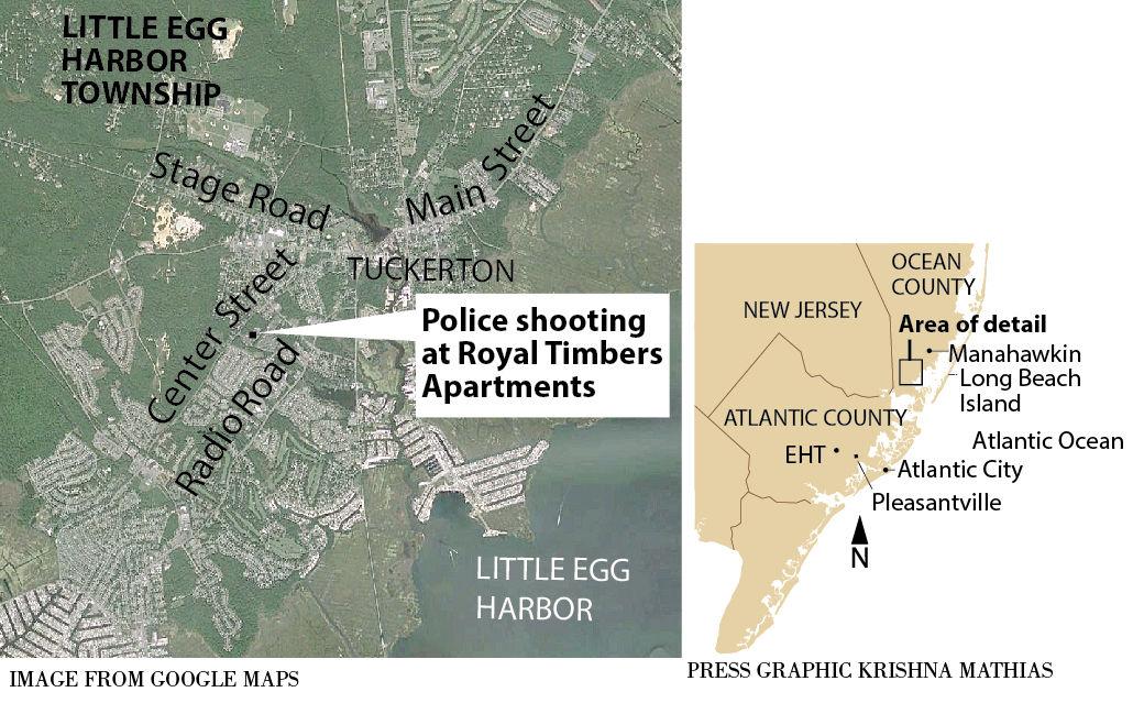 Police shooting Little Egg Harbor Township map 11-2015