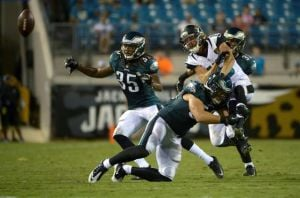 Eagles Final Preseason Game Tonight The Last Chance For Rookie Free Agents To Impress: Casey Matthews, shown making a hit on Jaguars receiver Jordan Shipley, is one of several veterans who are in need of a good performance tonight to secure their spot on the Eagles' 53-man roster.