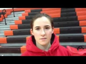 Ocean City's Nicole Piergross talks about the Red Raiders' win over Middle Township, Feb. 5, 2013