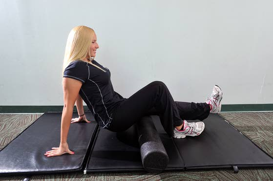 Your workout: Foam-roller hamstring