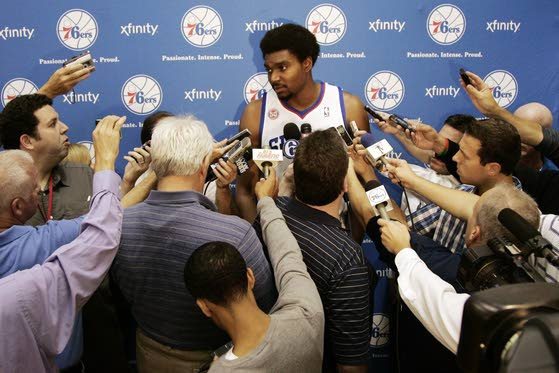76ers' Bynum won't play in A.C. game